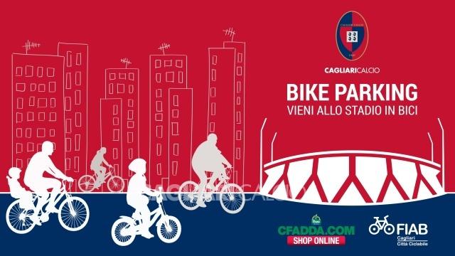 CAGLIARI, Da sabato 24, per la partita Cagliari-Sassuolo, si inaugura il 'bike parking' al Sant'Elia