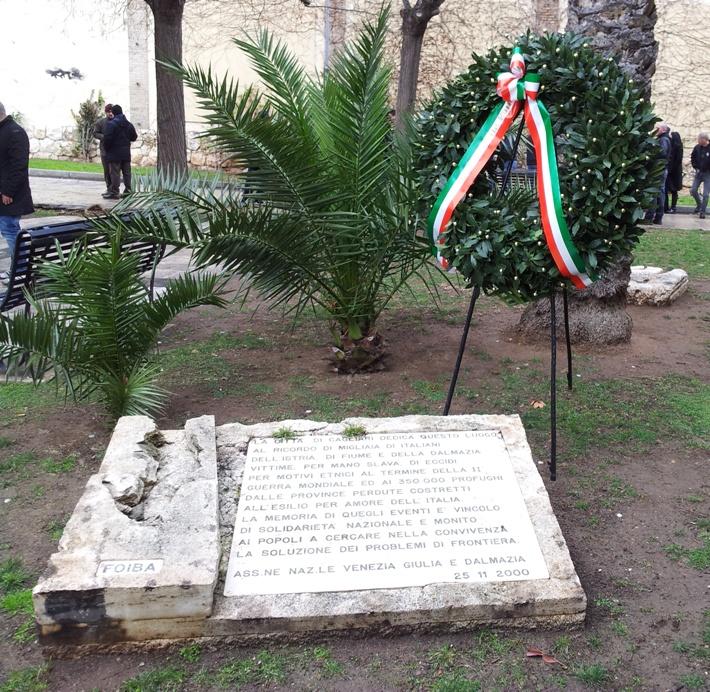 CAGLIARI, Cerimonia per ricordare i Martiri delle Foibe e l'esodo Giuliano-Dalmata: martedì 10 febbraio alle 18