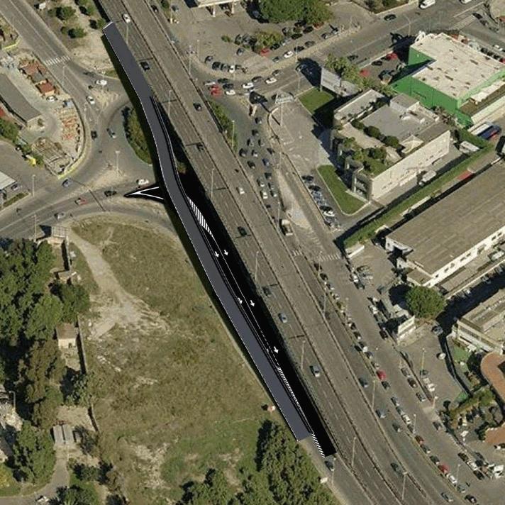 CAGLIARI, Progetto di nuova rampa dell'Asse mediano in via dei Valenzani. I lavori partiranno nei prossimi giorni