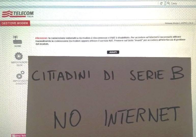 """BARRALI, Sindaco Piga: """"Niente internet, cittadini di serie B che pagano come quelli di serie A"""""""