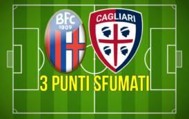 CALCIO, Tre punti sfumati per il Cagliari a Bologna (1-1)