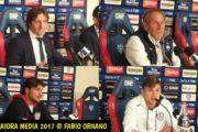 CALCIO, Cagliari-Pescara 1-0: Rastelli, Zeman, Dessena e Barella in sala stampa
