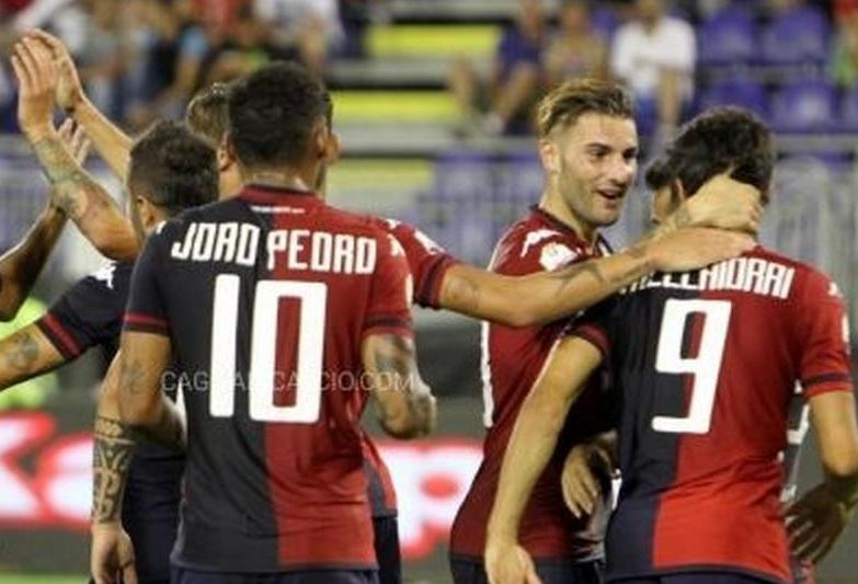 CALCIO, Buona la prima in Coppa Italia: il Cagliari maltratta l'Entella 5-0. Sabato 15, trasferta a Trapani