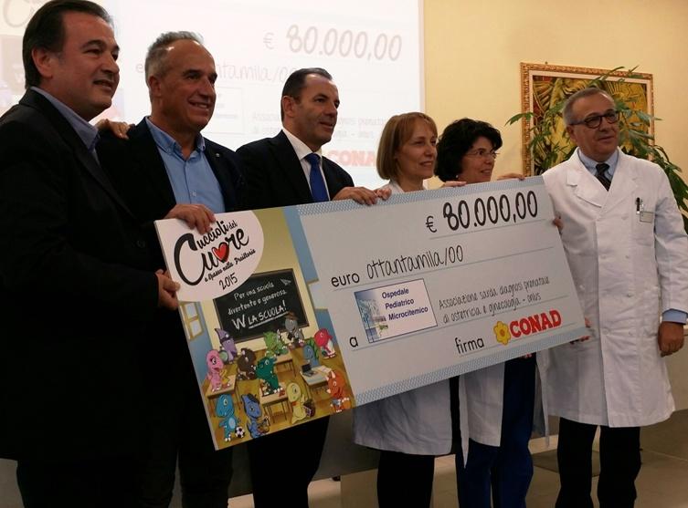 CAGLIARI, La solidarietà arriva con i 'Cuccioli del cuore' Conad: 80.000 euro all'Ospedale Microcitemico per un ecografo