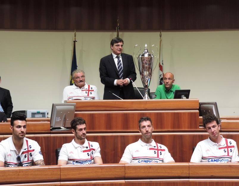PALLACANESTRO, I Campioni d'Italia della Dinamo Sassari festeggiati in Consiglio regionale