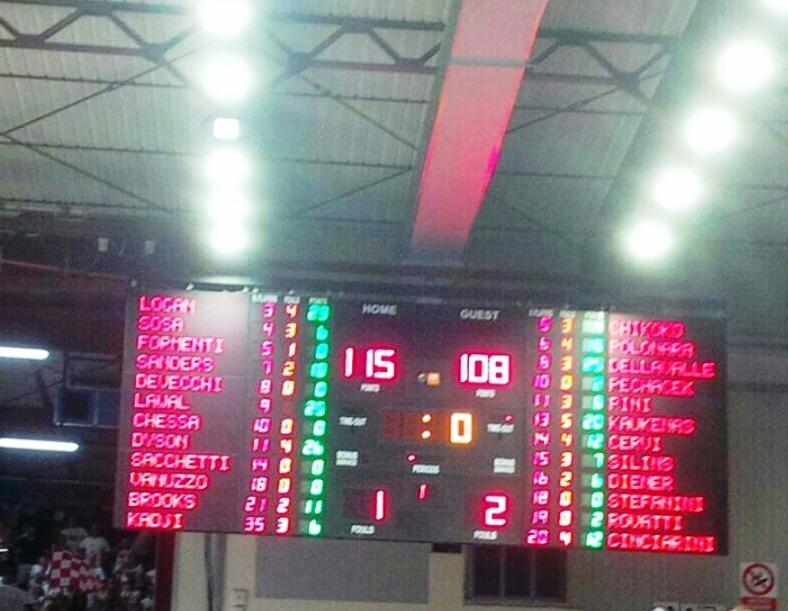 PALLACANESTRO, Dopo 3 supplementari la Dinamo conquista (115-108) il diritto a gara7. Venerdì a Reggio Emilia sfida per lo Scudetto