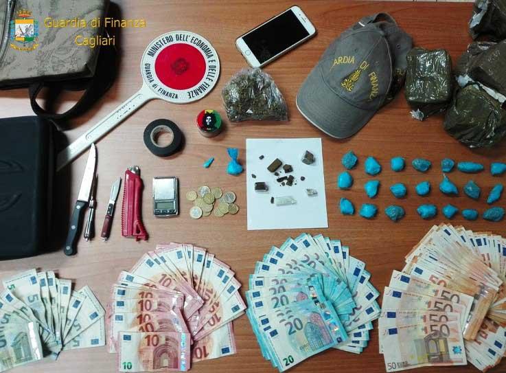 CAPOTERRA, Spacciava hashish, marijuana e cocaina, trovati oltre 6mila euro: arrestato un ventenne