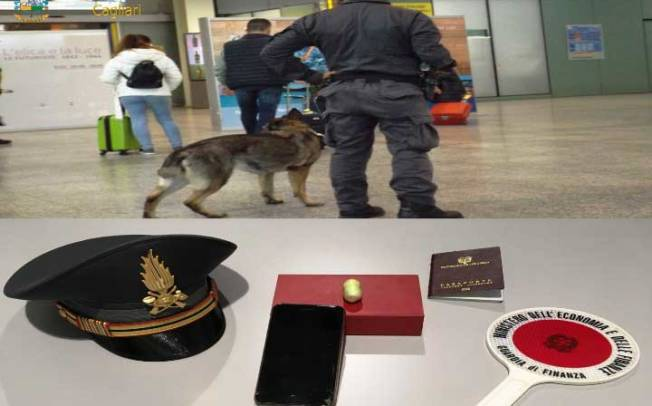 CAGLIARI, All'aeroporto un corriere ovulatore con cocaina nell'intestino: arrestato 39enne colombiano