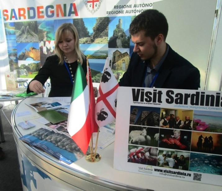 """TURISMO, Stand della Sardegna alla fiera del turismo """"Leisure 2015"""" di Minsk in Bielorussia"""