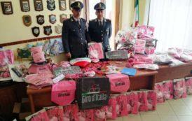 ALGHERO, Sequestrati oltre 35mila di gadget del Giro d'Italia