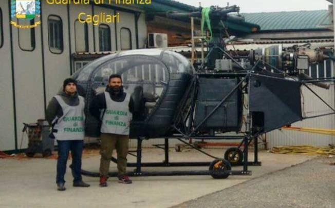 CAGLIARI, Traffico di cocaina: pregiudicato emiliano utilizzava un elicottero per portarla in Sardegna (VIDEO)