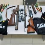 ESCALAPLANO, A caccia di cinghiali con armi rubate e clandestine: arrestati due pregiudicati