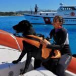 VILLASIMIUS, Guardia costiera in esercitazione coi cani della Scuola di Salvataggio