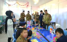 AFGHANISTAN, Brigata Sassari distribuisce materiali di prima necessità al centro disabili di Herat