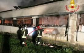 CAGLIARI, Incendio in un capannone sulla SS 131 Dir