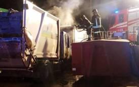 VILLASOR, Notte di fuoco all'ecocentro