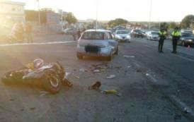 CAGLIARI, Scontro tra auto e moto in viale Monastir: motociclista di Sestu ricoverato in gravi condizioni
