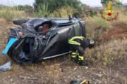 MUSEI, Auto fuori strada nella Provinciale 89: muore un 23enne di Siliqua
