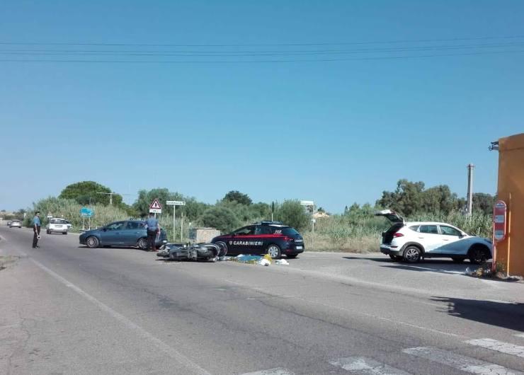 QUARTU SANT'ELENA, Scontro tra auto e scooter a Capitana: una vittima