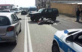 CAGLIARI, Incidente stradale in viale Monastir: 18enne motociclista al Pronto Soccorso