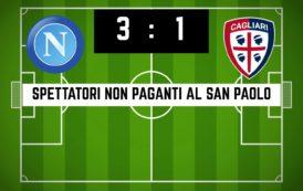CALCIO, Spettatori non paganti al monologo del San Paolo: Napoli-Cagliari 3-1