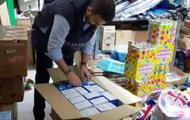 ALGHERO, Sequestrati in tre negozi oltre 2.200 articoli illegali tra luci natalizie e giocattoli