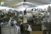 CAGLIARI, Scoperto capannone con prodotti contraffatti e non sicuri: sequestrati 5 milioni di articoli (VIDEO)