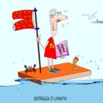 MIRABILIA, Maglietta rossa per 'festeggiare' emorragia di umanità ai danni dei Sardi