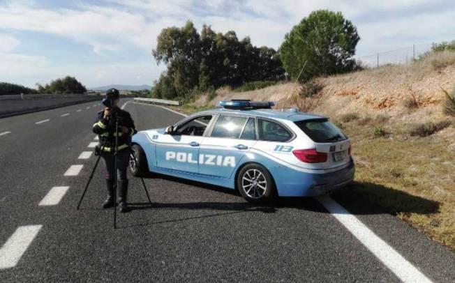 SASSARI, Individuato automobilista sulla Statale 291 a 224 km/h