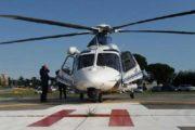 ORISTANO, Donna incinta trasportata con urgenza da elicottero della Polizia ad ospedale romano