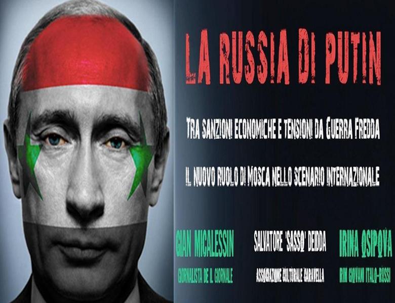 """CAGLIARI, Venerdì 30 a Villa Muscas: """"La Russia di Putin"""" con Gian Micalessin ed Irina Osipova"""