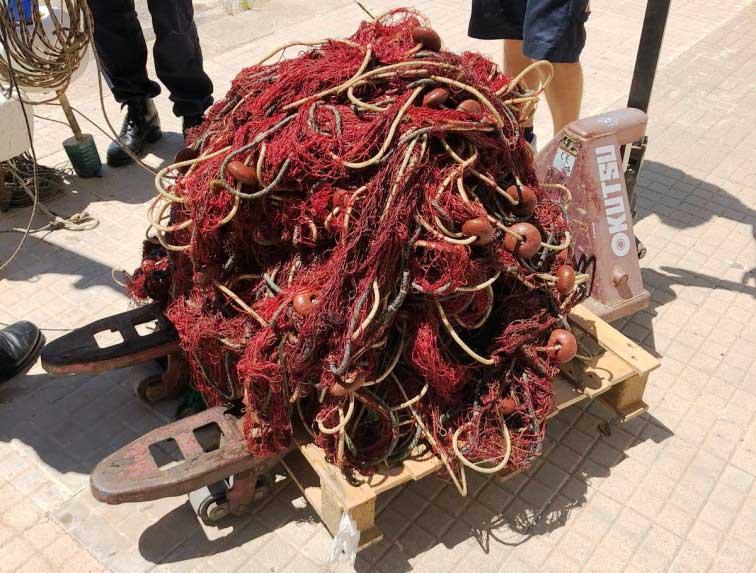OLBIA, Sequestrati 300 metri di reti da pesca abusivamente posizionate nell'Area marina protetta di Tavolara