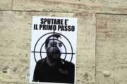 CAGLIARI, Ancora minacce al ministro Salvini sui muri di Cagliari