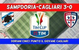 CALCIO, Coppa indigesta per il giovane Cagliari: la cinica Sampdoria va avanti (3-0)