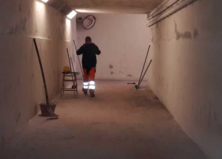 SASSARI, Lavori in corso nel sottopassaggio di Li Punti