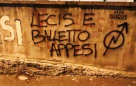 CAESAR, Scritte minacciose tollerate in ragione di un antifascismo che si contrappone alla legalità
