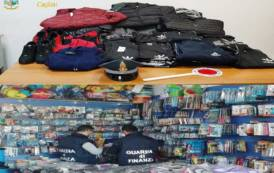 CAGLIARI, Sequestrati quasi 200.000 articoli illegali. Sanzioni per oltre 4mila euro