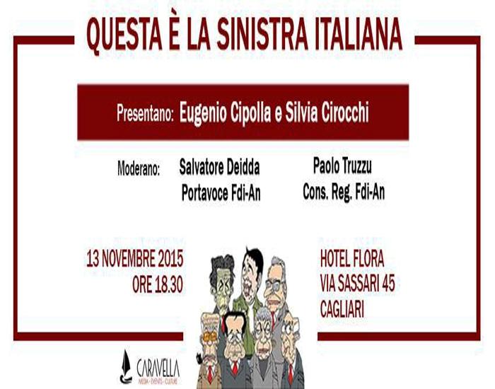 """CAGLIARI, """"Questa è la sinistra italiana"""": venerdì 13 presentazione del libro di Silvia Cirocchi ed Eugenio Cipolla"""