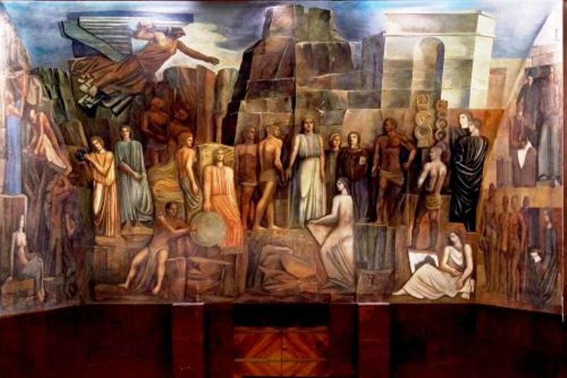 ROMA, Dopo 80 anni si restaura nella Città Universitaria l'affresco 'defascistizzato' del pittore sassarese Sironi: in quale versione?