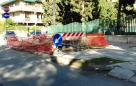 CAGLIARI, In via Leo da gennaio le transenne per un albero sradicato. Il Comune si fa attendere