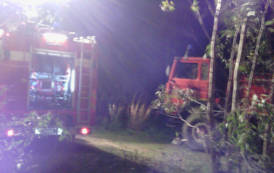 VILLAPUTZU, Incendio nelle campagne di Quirra, Vigili del fuoco impegnati per due ore