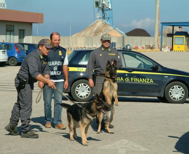 PORTOTORRES, Finanzieri arrestano albanese con 500 grammi di eroina Grazie anche al contributo dei cani Ober e Bamby