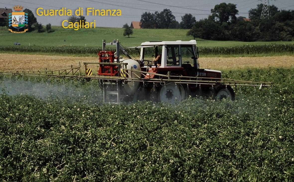 CAGLIARI, Guardia di finanza sequestra sul territorio nazionale 16 tonnellate di pesticidi. Vendute oltre 90 tonnellate di prodotti illeciti per 7 milioni