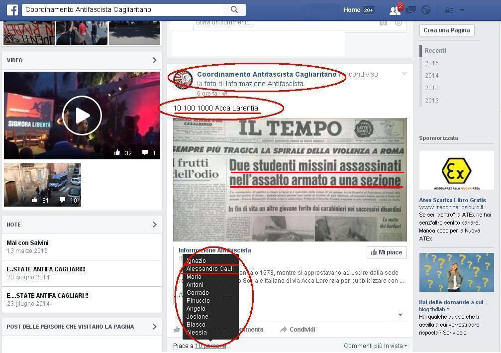 ARSENICO, Nessun pentimento e nessuna condanna: per il consigliere di Terralba il problema sono i fascisti