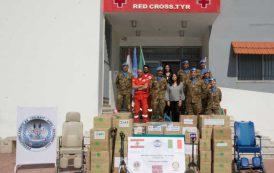 LIBANO, Donazione della Brigata Sassari alla Croce rossa di Tiro