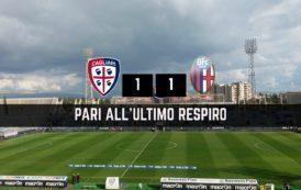 CALCIO, Pazzo Cagliari: Bologna raggiunto all'ultimo respiro. Al Sant'Elia termina 1-1