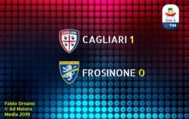 CALCIO, Brutti ma buoni: Cagliari-Frosinone 1-0, la quota 40 è realtà