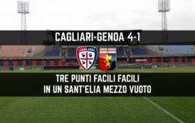 CALCIO, Pomeriggio gelido ed attacco esplosivo: il Cagliari si sbarazza del Genoa (4-1), Borriello mattatore