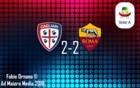 CALCIO, Suicidio della Roma a Cagliari (2-2): pari in rimonta al 95°!