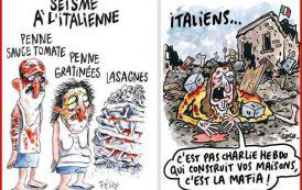 """DAL MONDO, Le vignette sul terremoto di """"Charlie Hebdo"""" che hanno indignato l'Italia"""